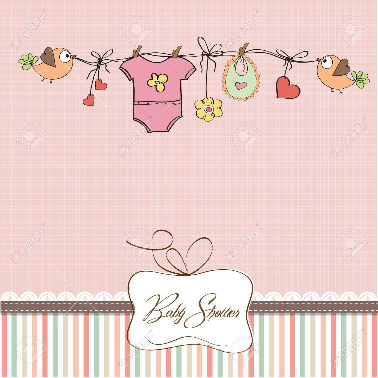 baby girl shower card.