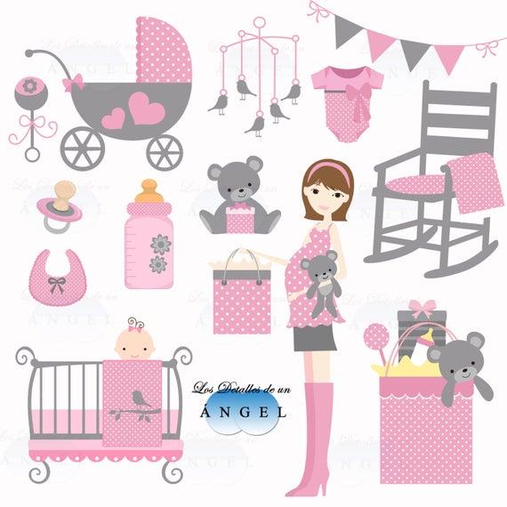 Clip art for baby girl shower / Clipart for baby shower girl.