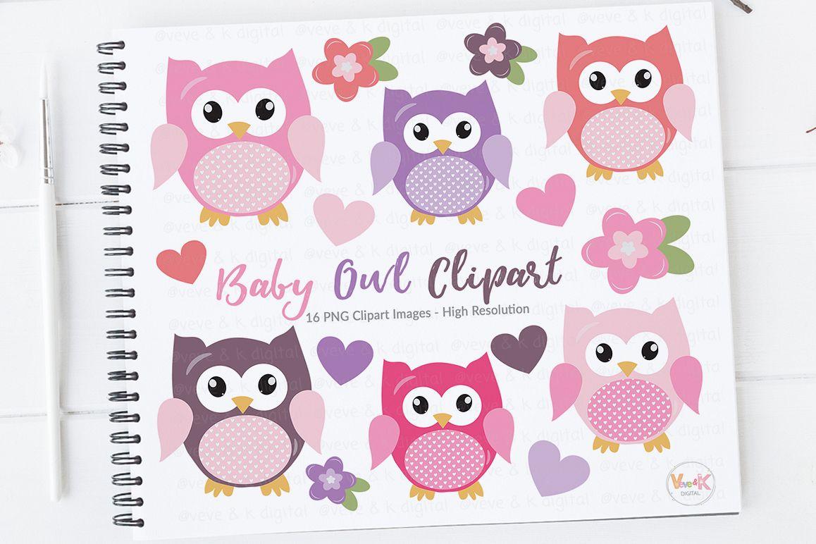 Cute Owls Clipart, Pink Owls Clipart, Digital Owls Clipart, Baby Shower  Clipart, Girl Shower Clipart, Owl Digital Images, Boy Owls Clipart.