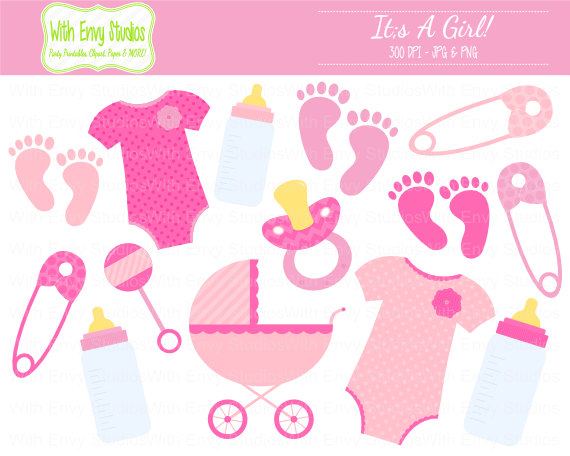 Free Girl Baby Shower Clipart, Download Free Clip Art, Free Clip Art.