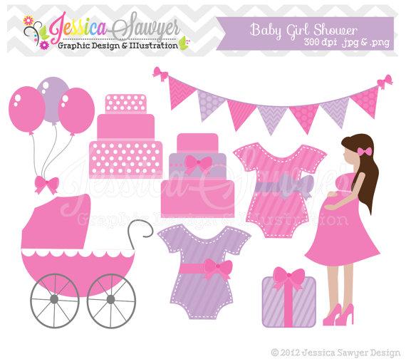 NEW BABY SHOWER INVITATIONS CLIP ART.