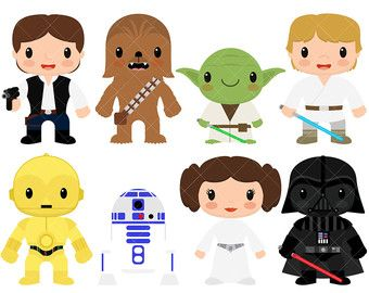 Star Kids Clipart / Star Wars by ClipArtisan on Etsy in 2019.