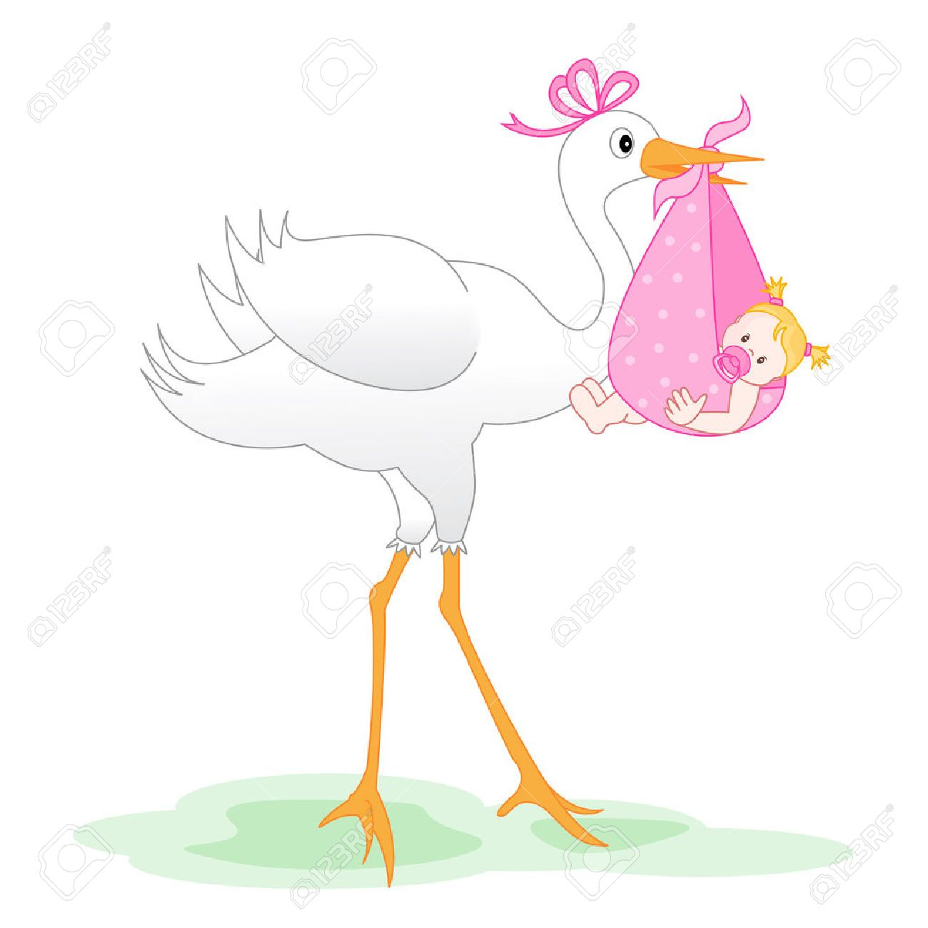 5450 Baby Girl free clipart.