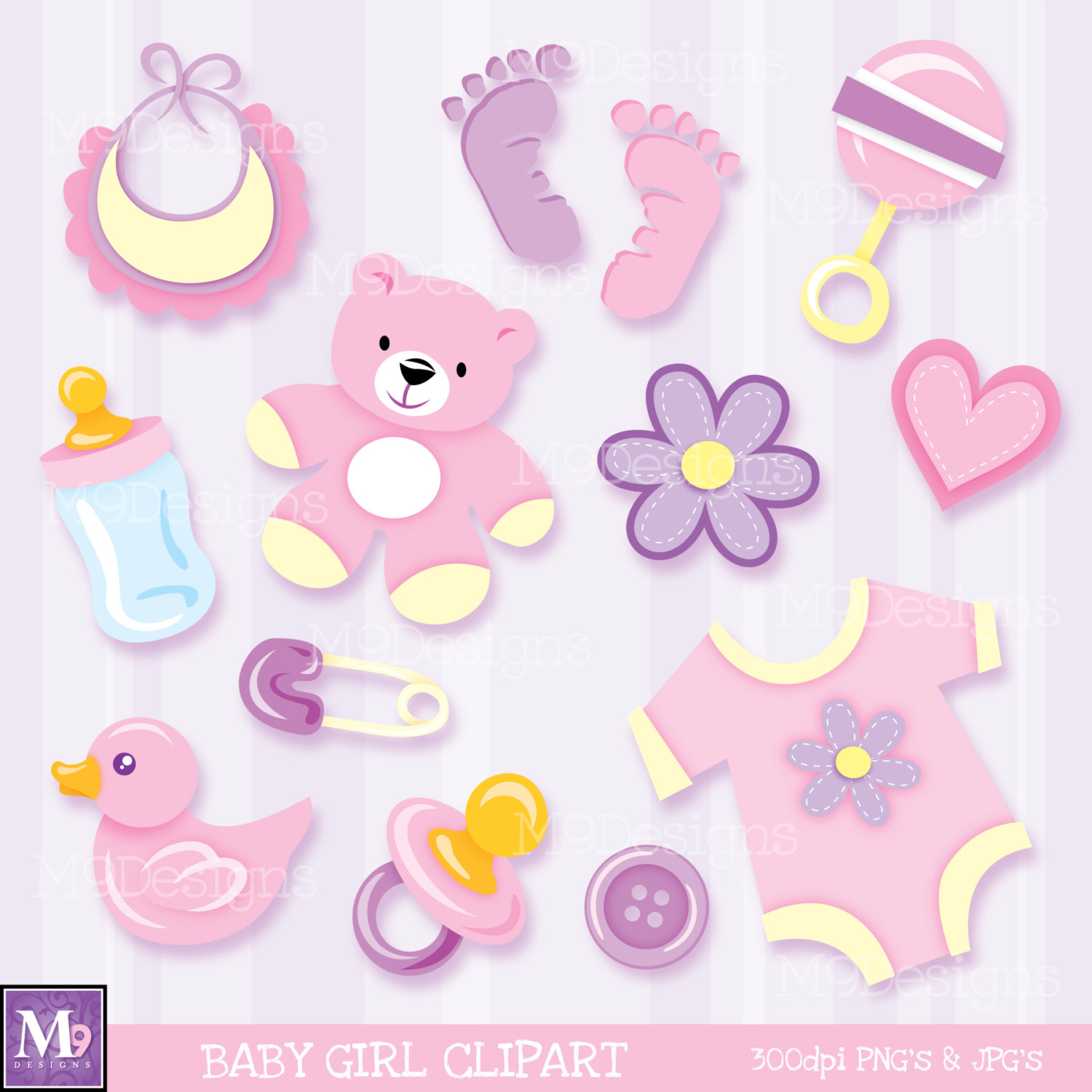 Baby Girl Things Clipart.
