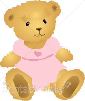 Girl Teddybear Clipart.