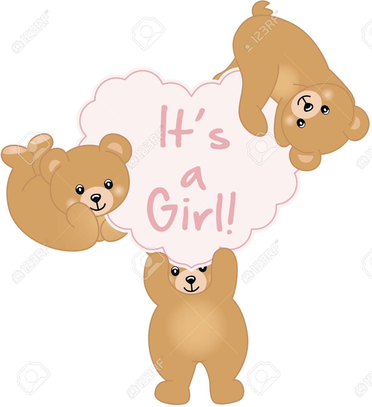 Girl Teddy Bear Baby Shower.