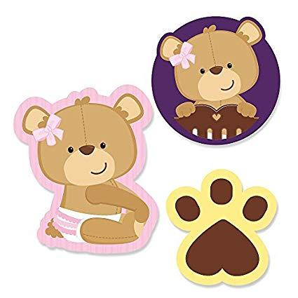 Amazon.com: Big Dot of Happiness Baby Girl Teddy Bear.
