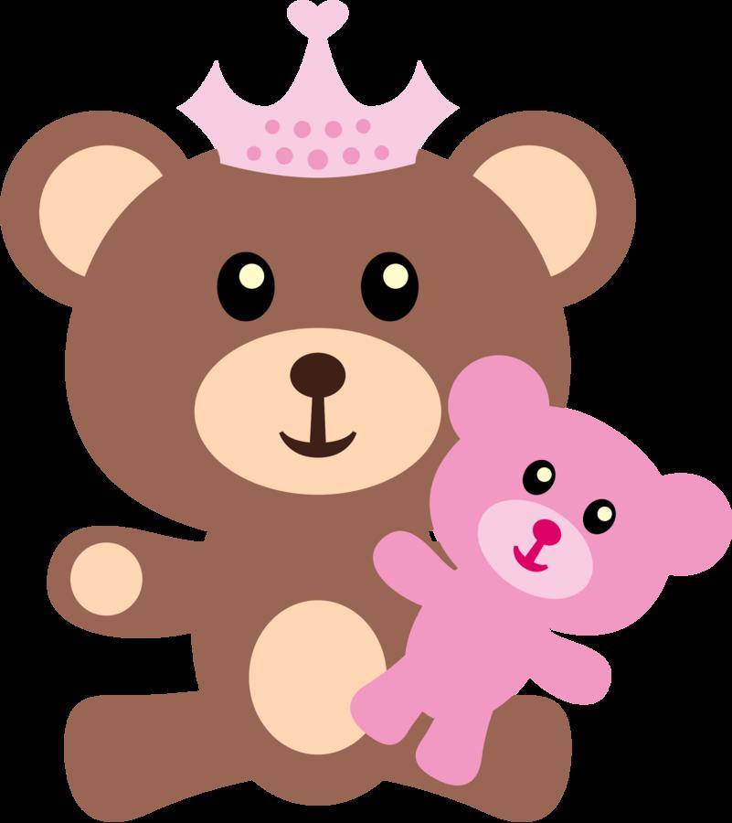 Baby Girl Teddy Bear Clip Art N2 free image.