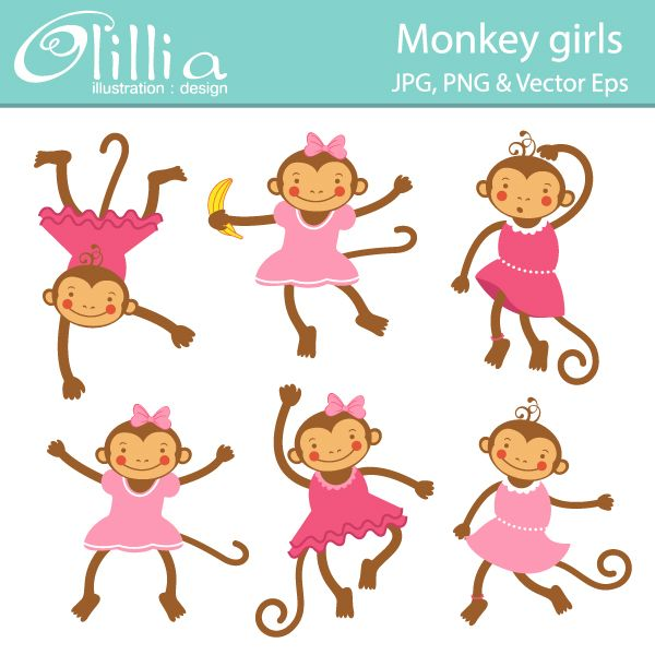 Monkey Party Themes, Clipart, and Printables on.