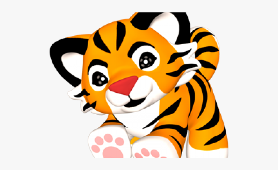 Baby Tiger Clipart Free , Transparent Cartoon, Free Cliparts.