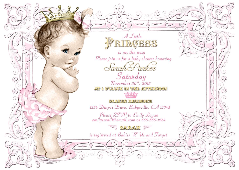 Vintage Princess Baby Clipart.