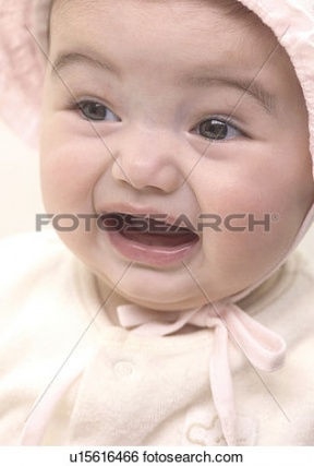Baby Girl With Mouth Open Clipart.
