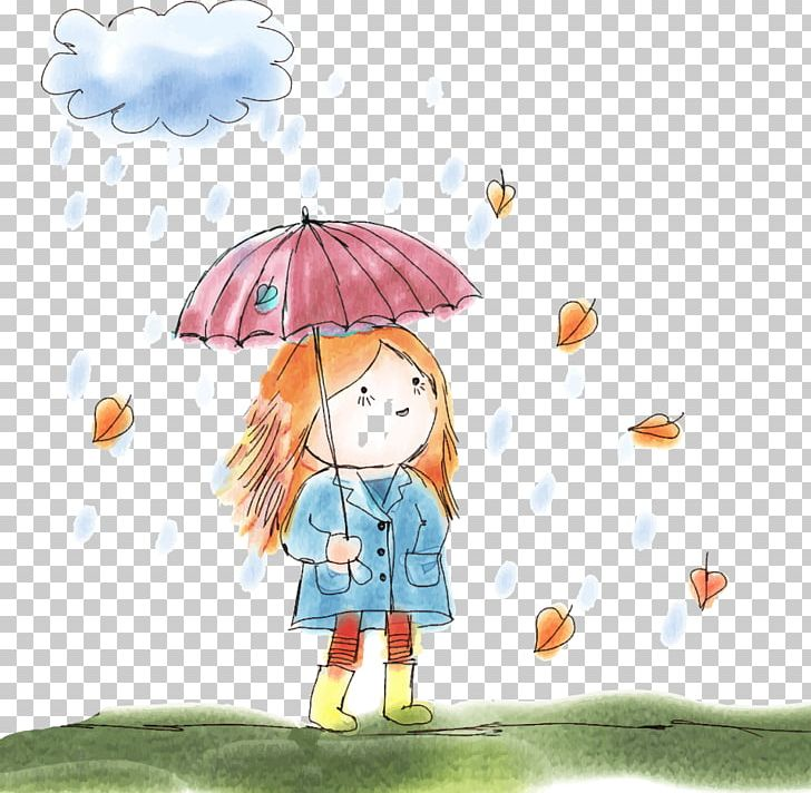 Child Drawing Umbrella Stock Illustration PNG, Clipart.