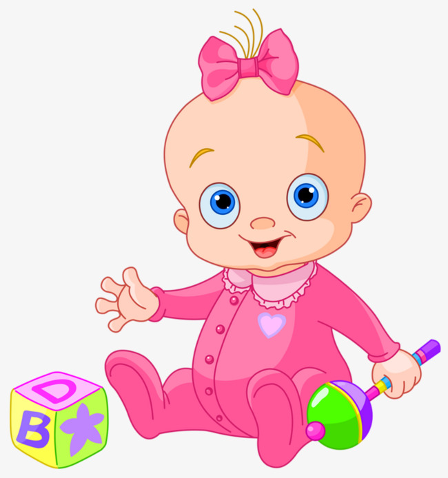 Baby Girl Playing With Toys, Toys Clipar #48848.