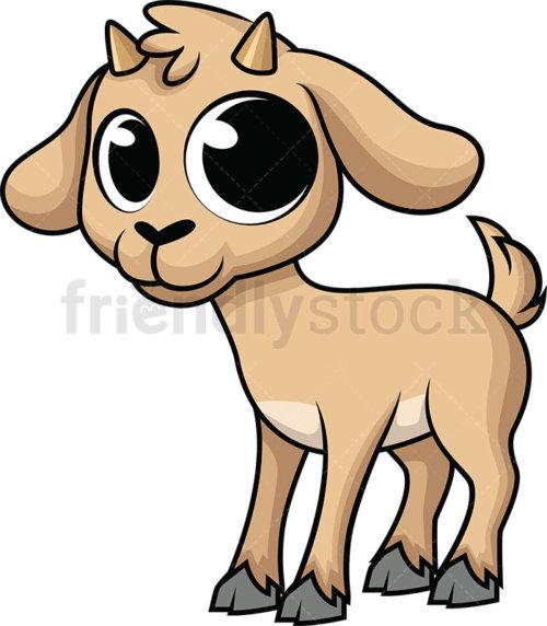 Cute Baby Goat.