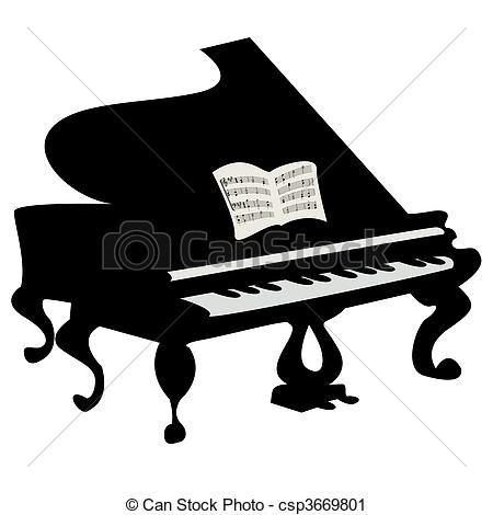 Grand piano Clipart and Stock Illustrations. 1,850 Grand piano.