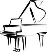 Baby Grand Piano Clipart.