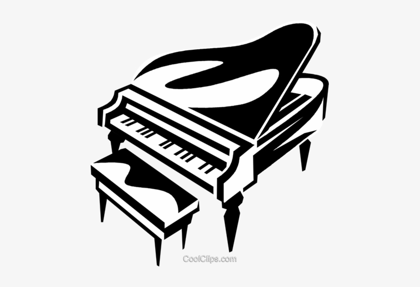 Grand Piano Royalty Free Vector Clip Art Illustration.