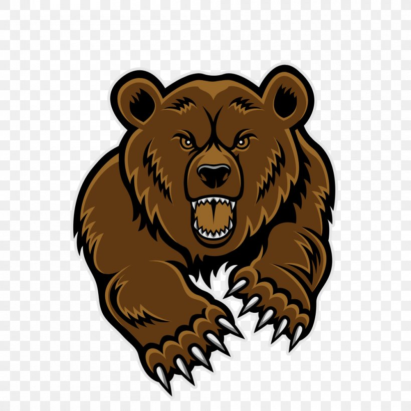 Baby Grizzly Grizzly Bear Clip Art, PNG, 1000x1000px, Baby.