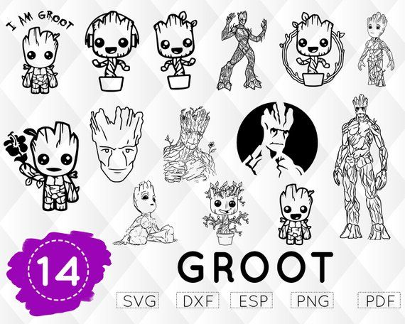 GROOT SVG, baby groot svg, i am groot svg, guardians galaxy svg.