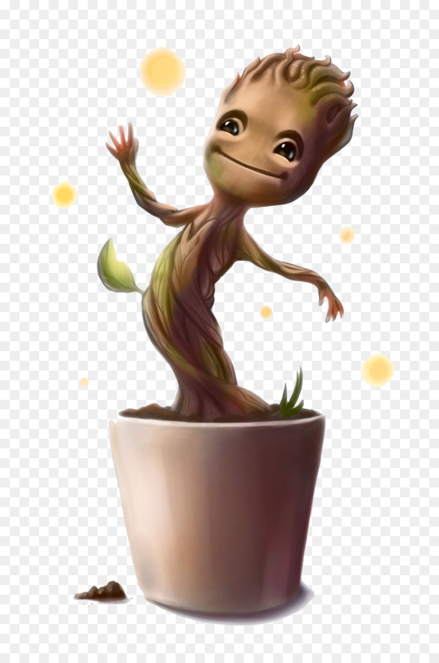 Groot Flowerpot png download.