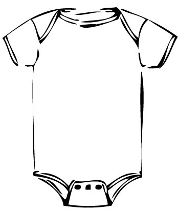 Free Baby Clothes Clipart Black And White, Download Free.