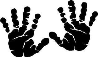 Free Vector Baby Handprint.