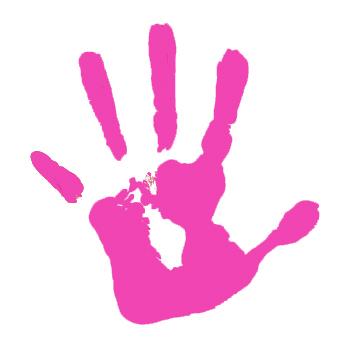 Free baby handprint clipart.