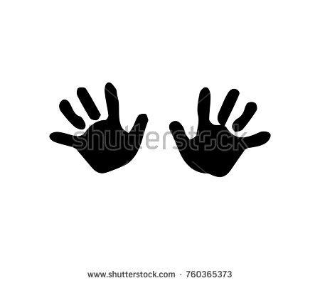 Baby Handprint Silhouette.