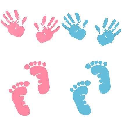 Baby Handprints Clipart.