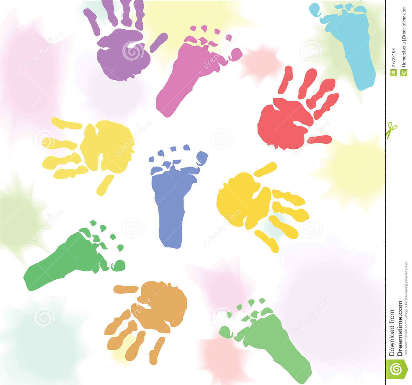 Prints baby hands and feet.