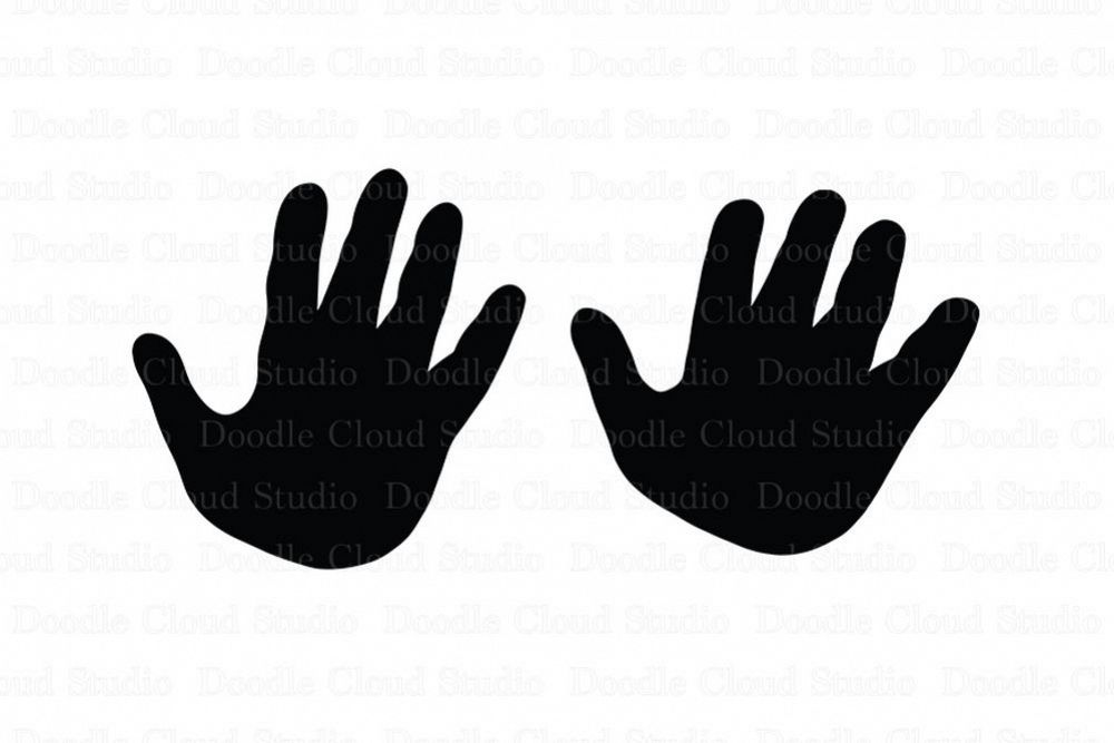 Child & Adult Hands SVG files for Silhouette Cameo and Cricut. SVG Design.  Hands clipart PNG included..