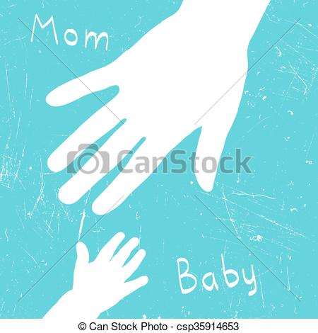 Mom's and baby's hands..