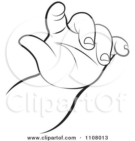 Clipart of Cupped Baby Hands.