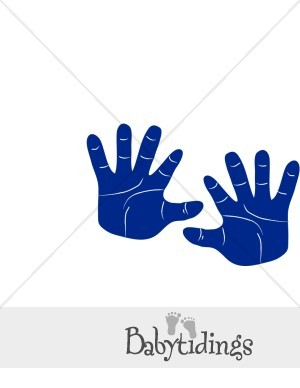 Blue Baby Hands Clipart.