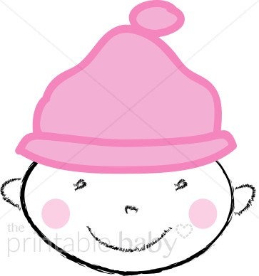 Baby with Hat Clipart.