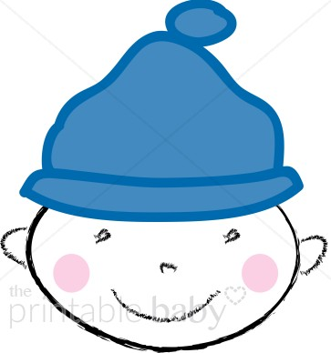 Baby with Beanie Clipart.