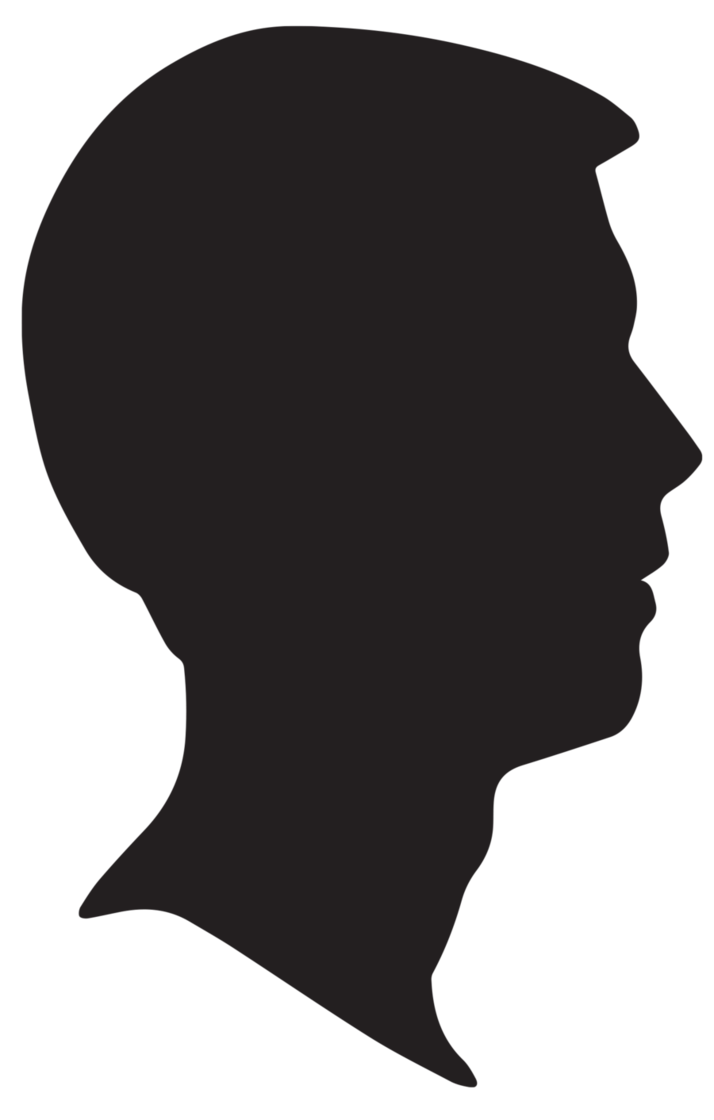Male Silhouette Profile by snicklefritz.