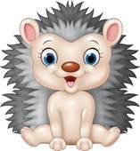 Baby Hedgehog Clip Art.