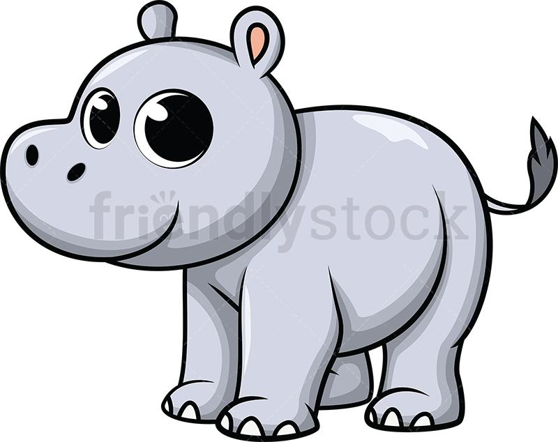 Cute Baby Hippo.