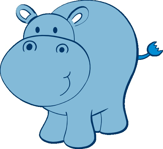 1293 Hippo free clipart.