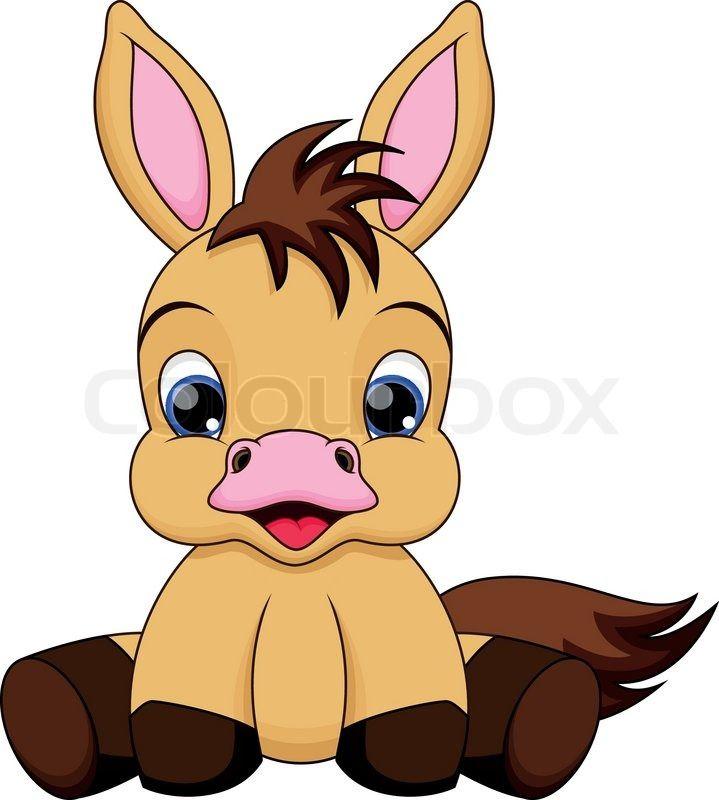 cute baby horse cartoon.