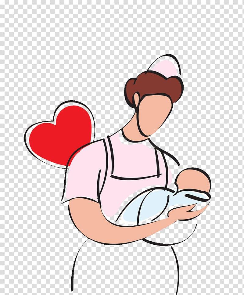 Infant Nursing Breastfeeding , Illustration nurse nurse.
