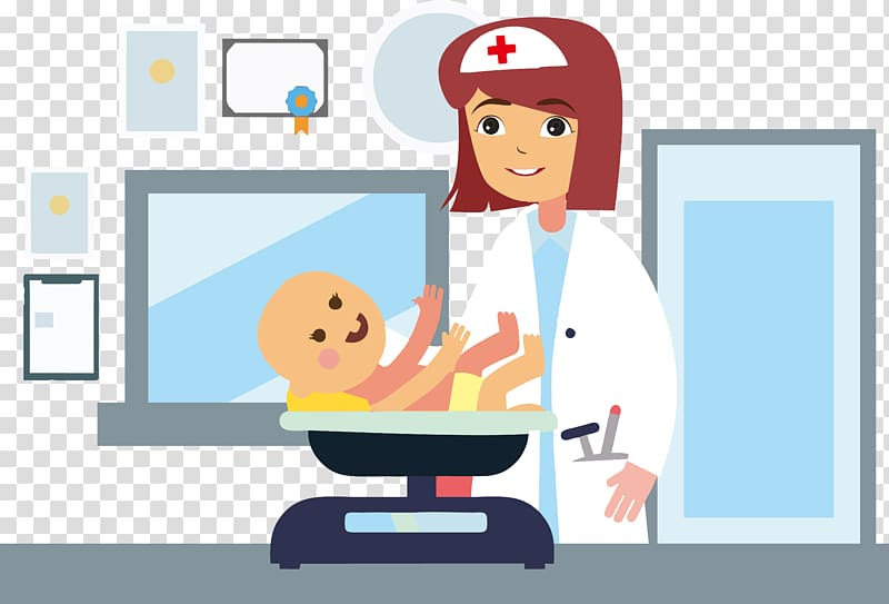 Infant Physician Pediatrics Hospital, The doctor weighed the.