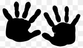 Silhouette Finger Printing Hand Black.