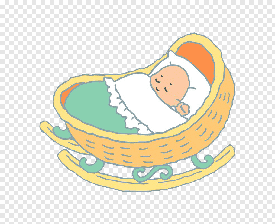 Baby, Infant, Child, Cradle, Suminoeku Osaka, Cartoon, Baby.