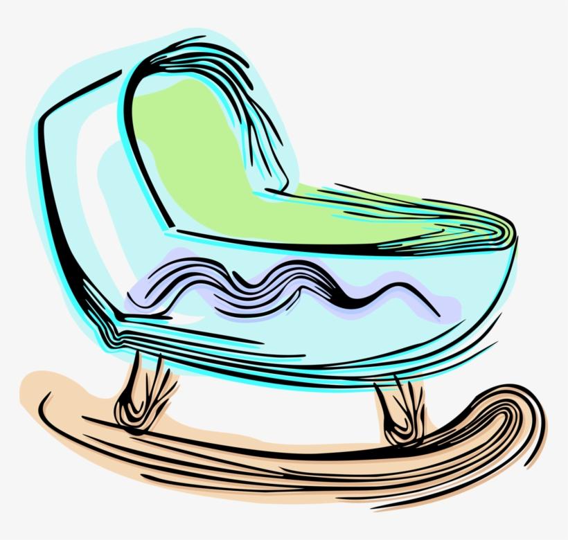 Vector Illustration Of Newborn Baby's Crib Small Bed.