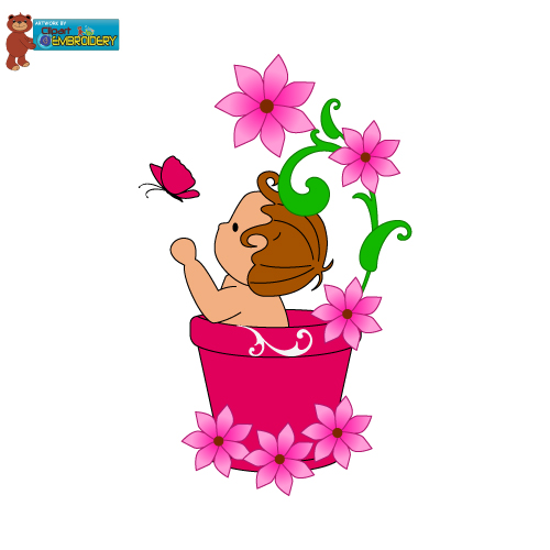 Baby flower clipart 1 » Clipart Station.