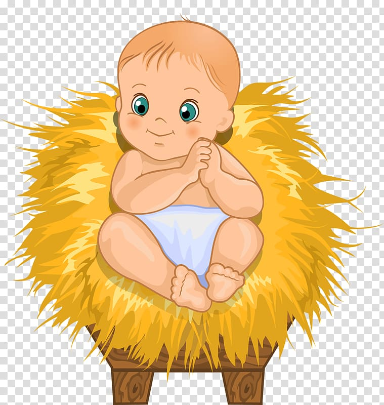 Manger Drawing , Cute baby transparent background PNG.