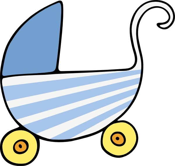 Baby Stroller clip art Free vector in Open office drawing.